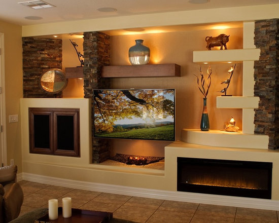 Drywall Entertainment Center Home Design Ideas Pictures