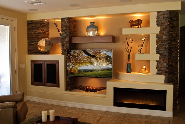 media wall 1 contemporary family room phoenix by