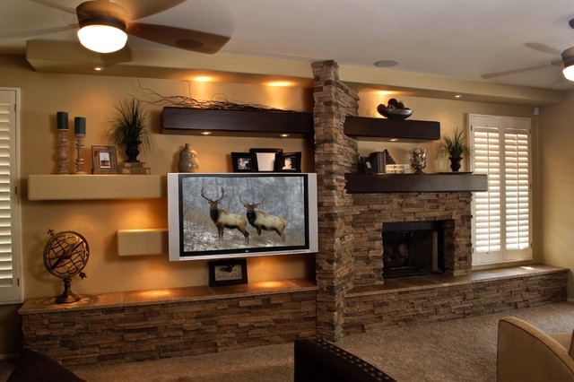 Media Wall 2 - Contemporary - Family Room - Phoenix - By