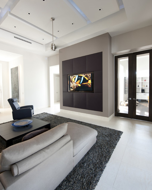 contemporary media room by Richlin Interiors