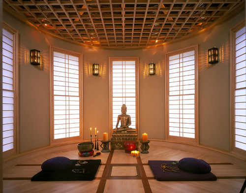 7 spaces that would make great meditation rooms photos for Living room yoga