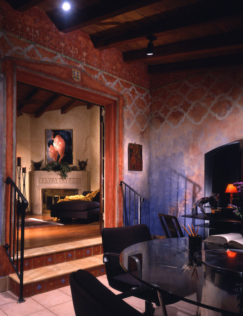 Mediterranean Architecture rustic family room