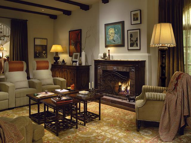 Mediterranean Classic rustic-family-room