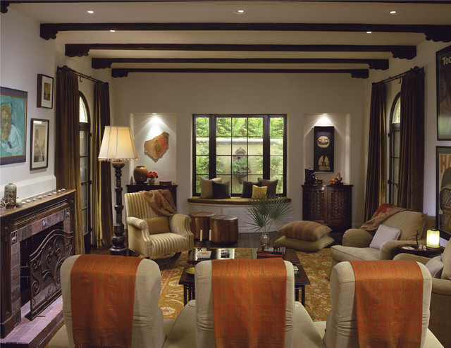 Mediterranean Classic mediterranean-family-room