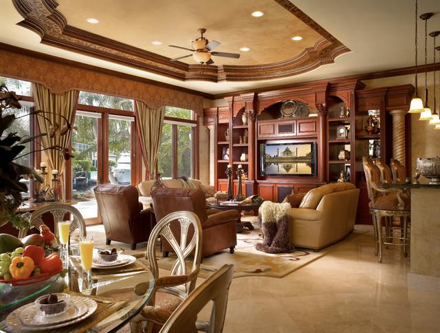 Raj Private Residence Mediterranean Family Room