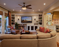 Mediterranean Haven traditional family room