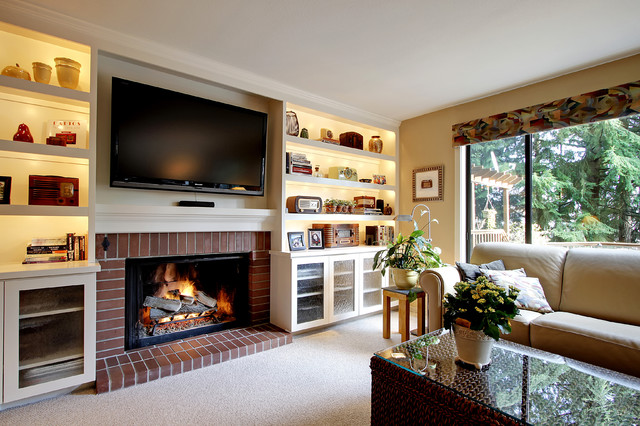 Mercer Island Media Center traditional-family-room