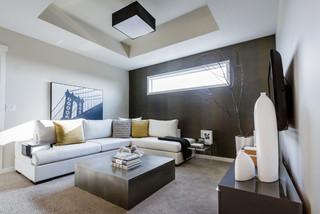 Mh Small Detailed Modern Family Room Calgary By Natalie Fuglestveit Interior Design