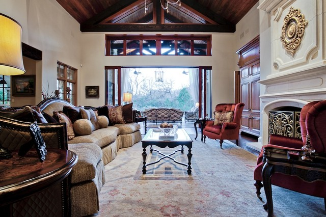 MICHAEL MOLTHAN LUXURY HOMES INTERIOR DESIGN GROUP mediterranean-family-room