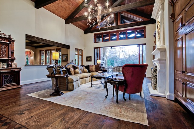 Michael molthan luxury homes interior design group mediterranean family room dallas by - Luxury homes interior kitchen ...