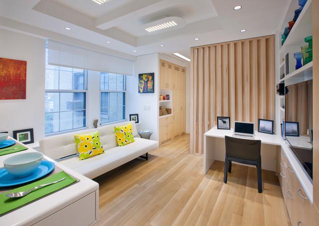 Micro-apartment scandinavian-family-room