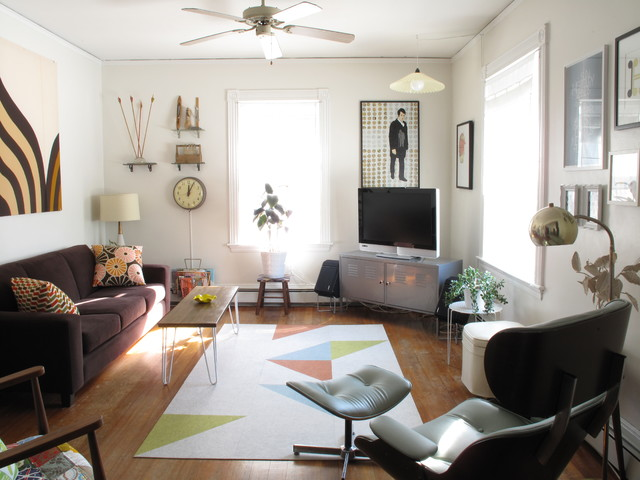 Midcentury Family Room eclectic-family-room