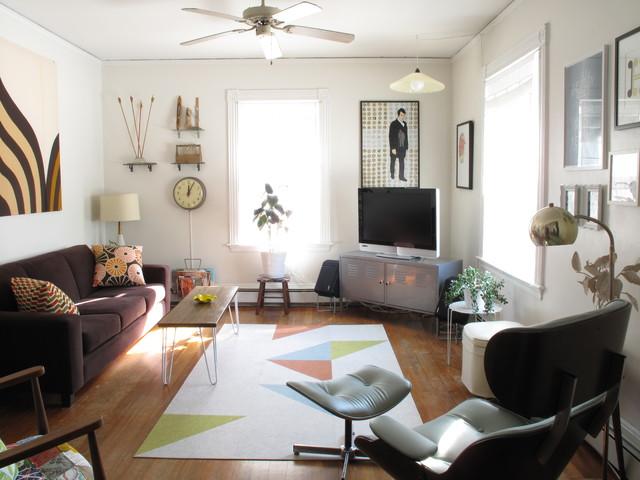 Living Room Midcentury Family Room