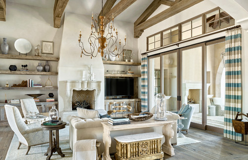 Lighter Furniture And Bronze Highlights Look Great In The Light That Comes  In Through The Large. Mediterranean Living Room ... Part 94