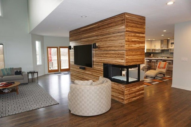 Inspiration for an eclectic family room remodel in Indianapolis