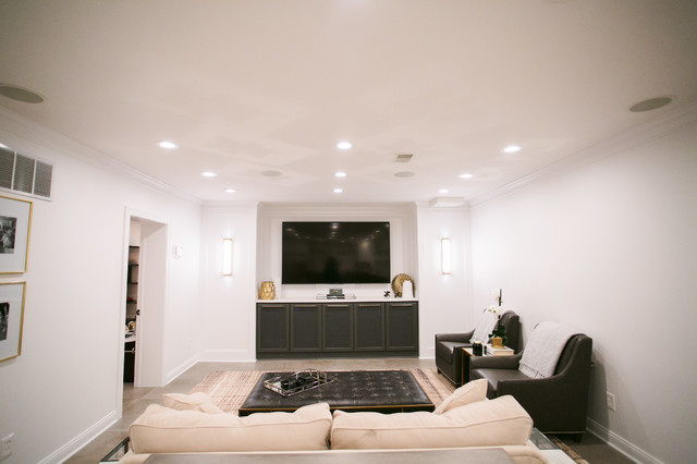 Example of a family room design in Indianapolis