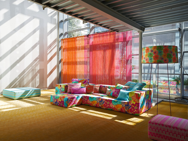 Missoni Home Eclectic Loft Contemporary Family Room