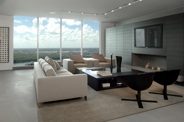 Mizner Park Boca Residence Contemporary Family Room