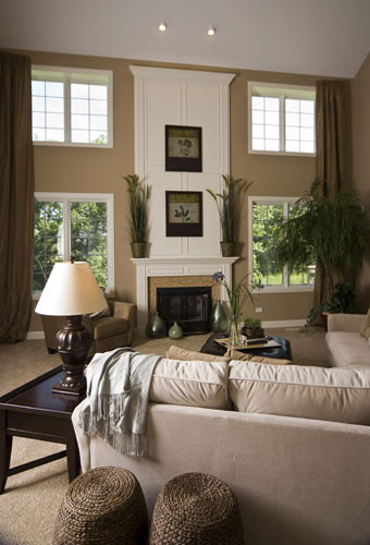 Model home family rooms