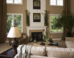 Model Home Design eclectic-family-room