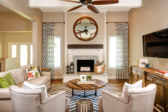 Modern and Rustic - Rustic - Family Room - phoenix - by J & J Design Group, LLC.