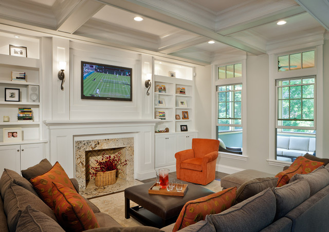 Modern Bungalow Traditional Family Room Boston By