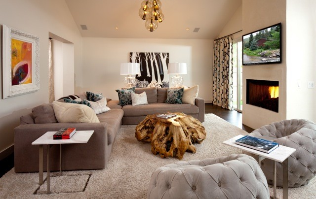 modern bungalow Modern Family Room Oklahoma City by