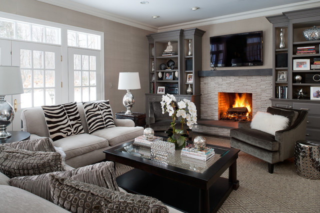 Modern classic interiors modern family room new york for New classic interior