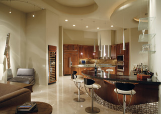 Modern Contemporary Living Room - Contemporary - Family Room - Phoenix - by Century Custom Homes LLP