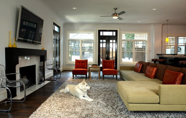 Modern Craftsman Family Room contemporary-family-room