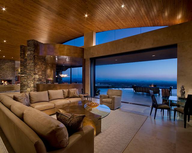 Modern desert classic home modern family room for Classic house phoenix