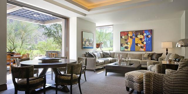 Modern Desert Home Contemporary Family Room