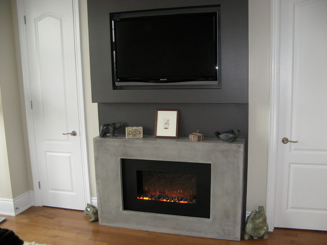 Modern electric fireplace modern-indoor-fireplaces