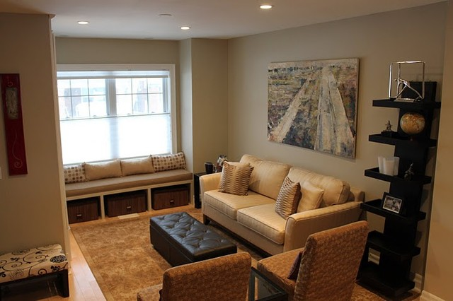 Modern family room for All in the family living room