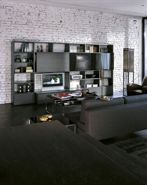Minimalist family room photo in Other