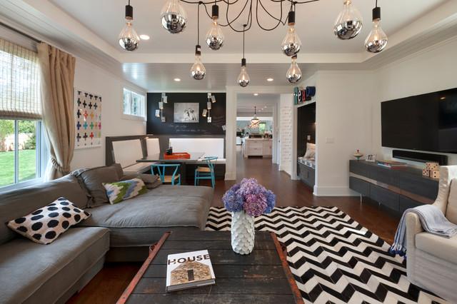 modern farmhouse family room klassisch modern