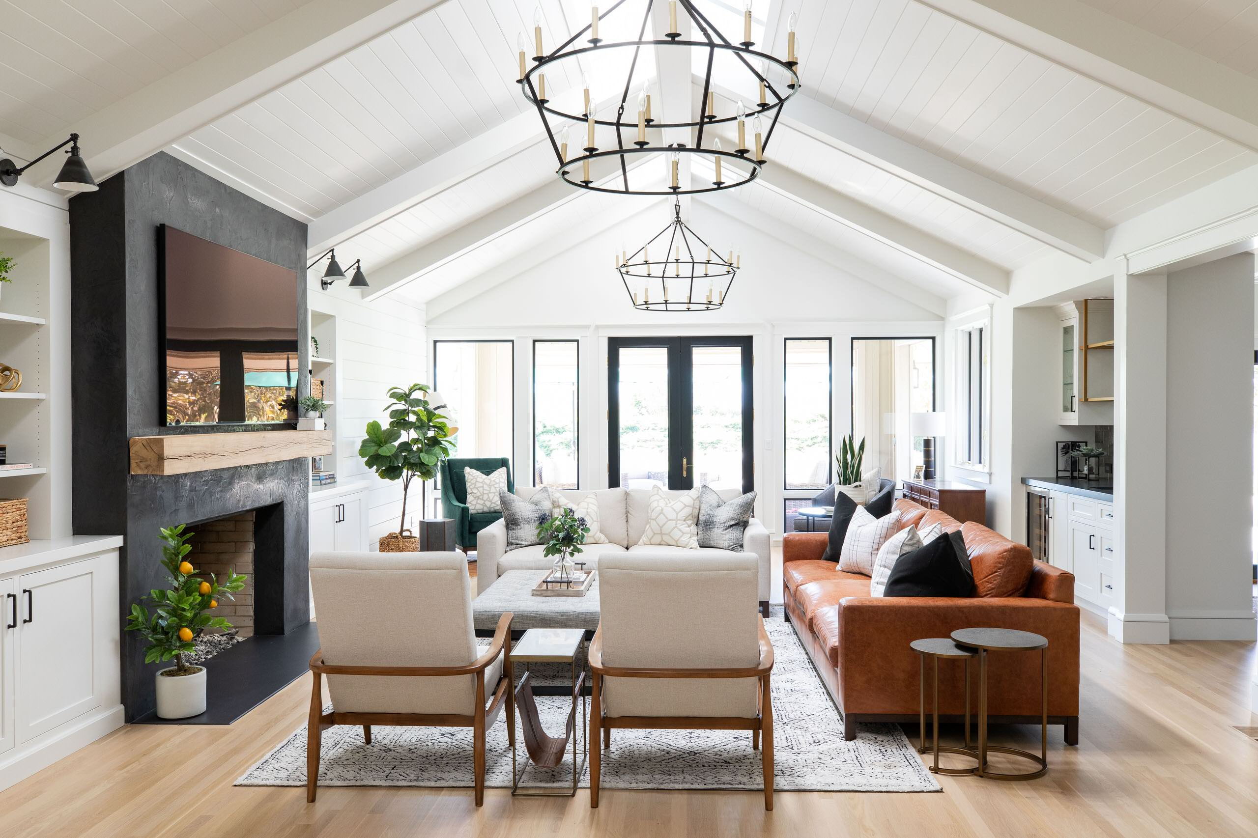 75 Beautiful Farmhouse Family Room Pictures Ideas February 2021 Houzz