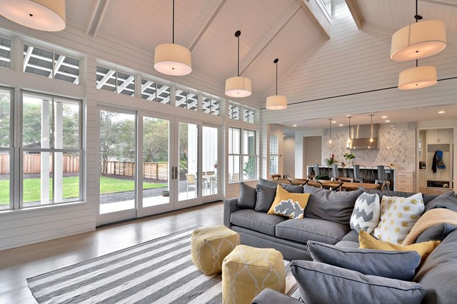 Modern Farmhouse Farmhouse Family Room other metro by Tim Brown Archi