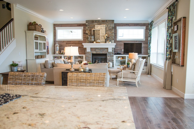 Modern Farmhouse Farmhouse Family Room Other by Yellow Prairie Interi
