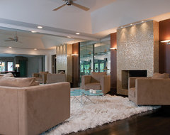 Modern Glam modern-family-room