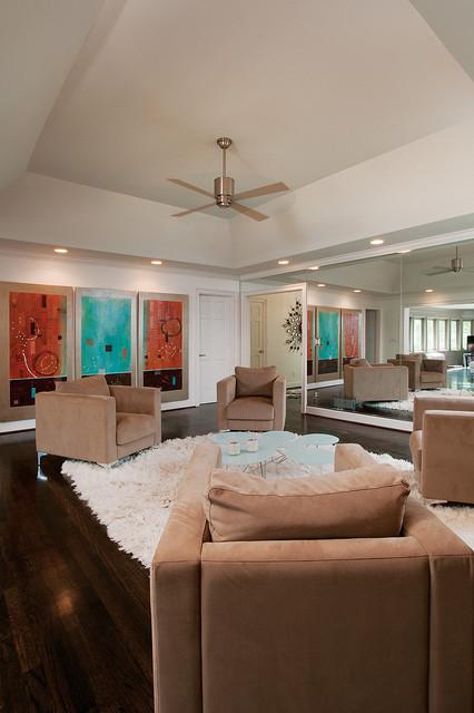 Modern Glam modern-family-room