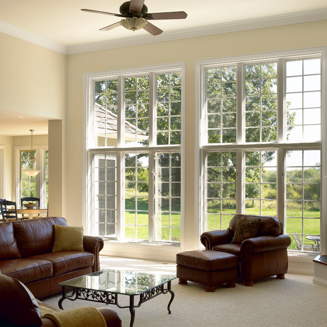 modern inspired colonial traditional family room