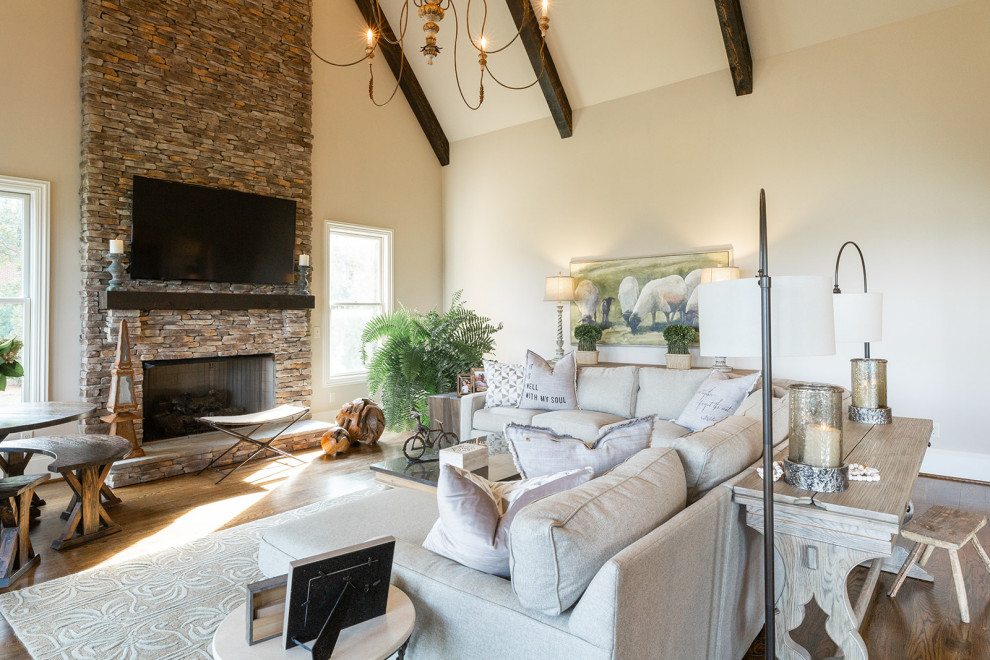 Modern Luxury Farmhouse Hearth Room