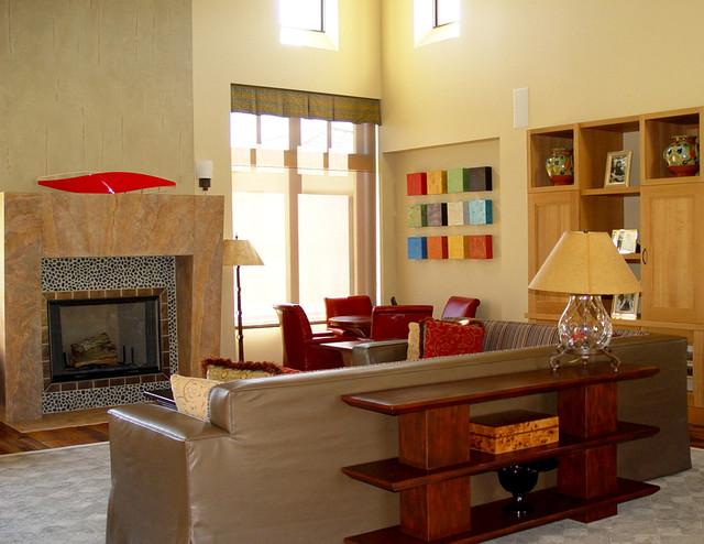 Modern Mediterranean Residence mediterranean-family-room