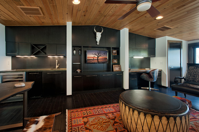 Modern Mountain Home rustic-family-room