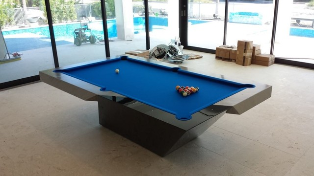 modern pool table by mitchell exclusive billiard designs contemporary game tables. Black Bedroom Furniture Sets. Home Design Ideas