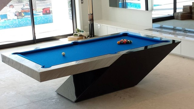 Modern pool table by mitchell exclusive billiard designs for Pool design game