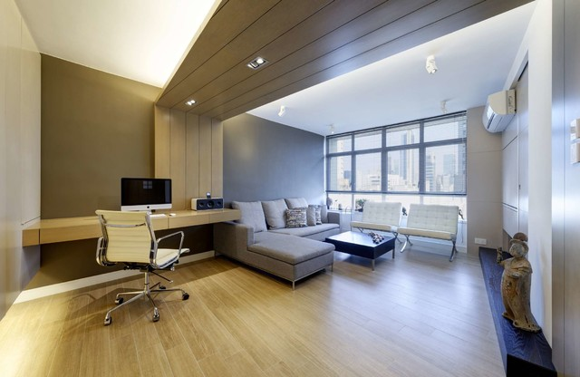 Modern Small warm Apartment contemporary-family-room