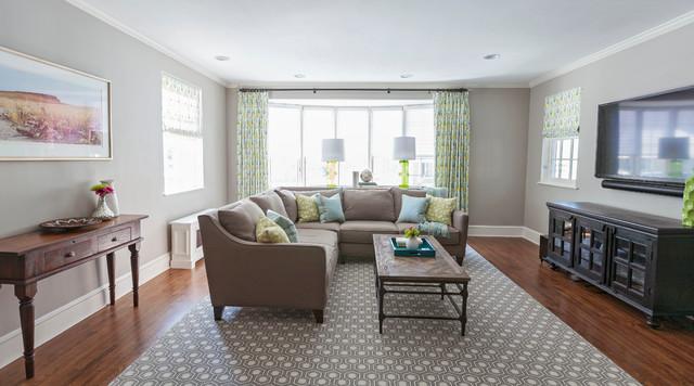 modern traditional lexington home traditional family room boston