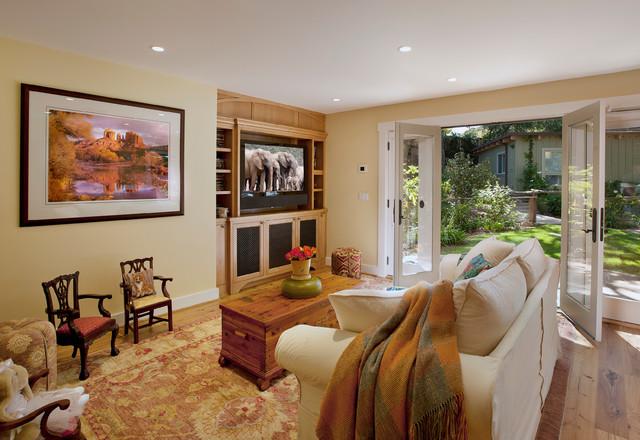 montecito modern ranch traditional family room santa barbara